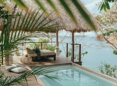 Private tropical resort plunge pool