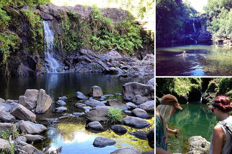 waterfalls road to hana maui
