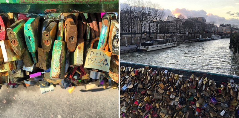 love locks paris france