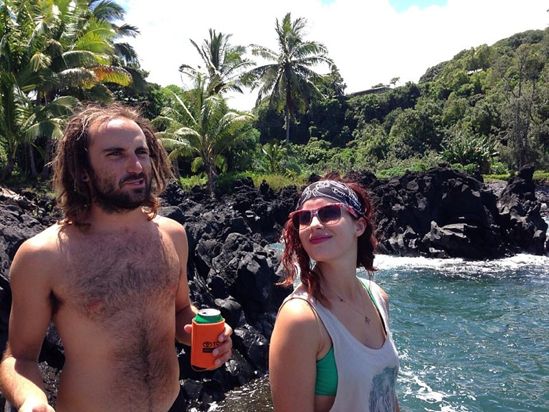 drinking on beach hawaii