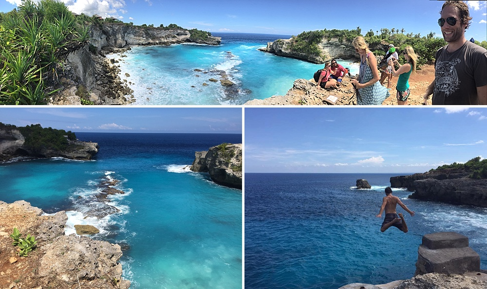 nusa ceningan cliff diving