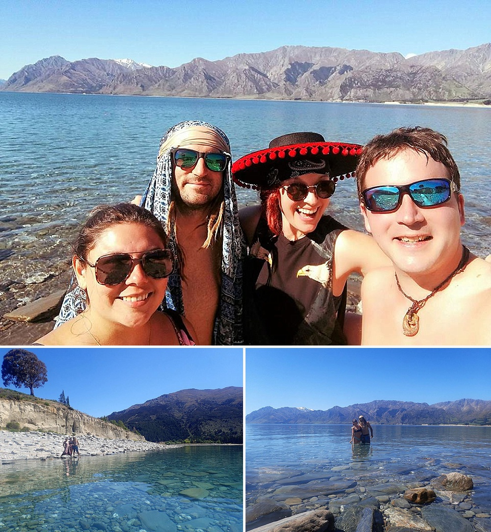swimming at lake hawea nz