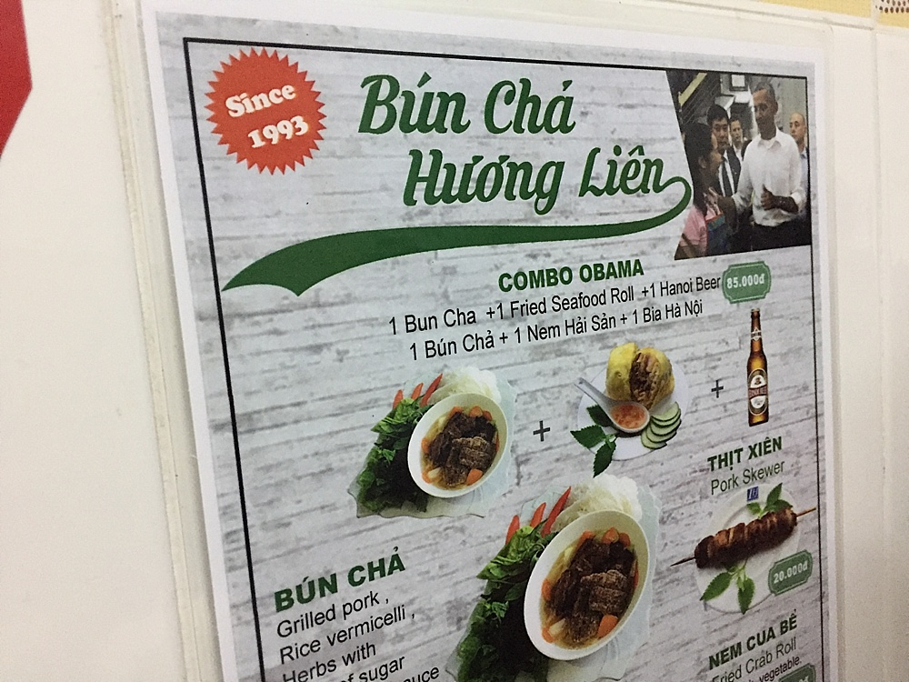 obama bun cha restaurant hanoi