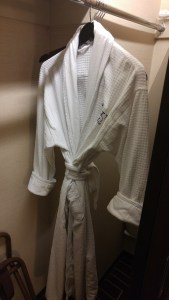 It isn't Hyatt without a robe!