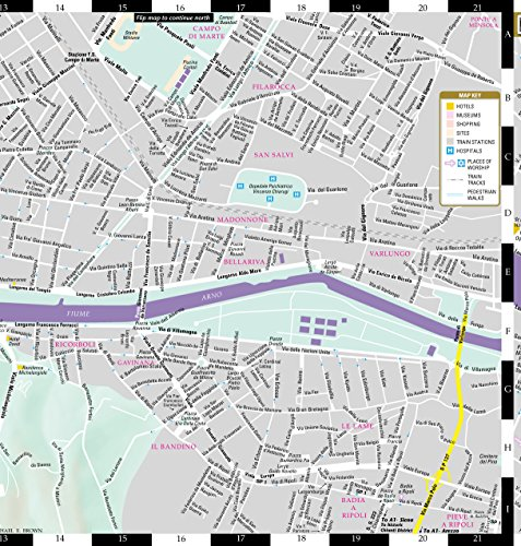 Streetwise Florence Map Laminated City Center Street Map of