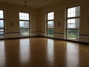 The ballroom offers amazing views.
