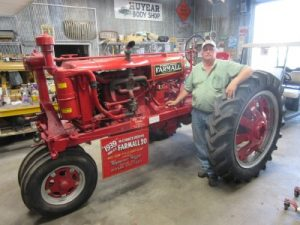 Lynn and his dad restored this Farmall
