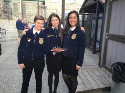 FFA members helping out