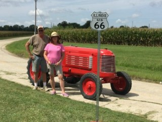 Photo-Shoot on Route 66!- Preparing for a Tractor Drive.