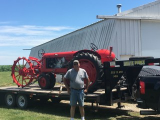 Loaded for Land of Lincoln Tractor show and drive