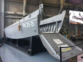 Volunteer's Reproduced LCVP Landing Craft at World War II Museum