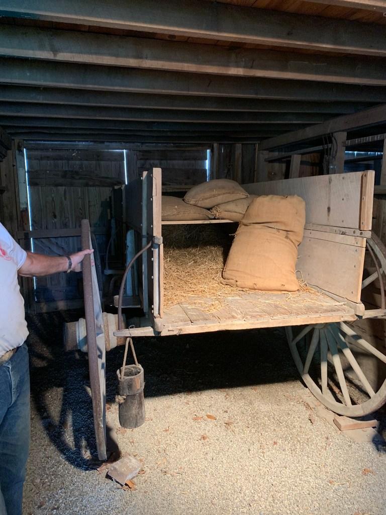 False bottom wagon
