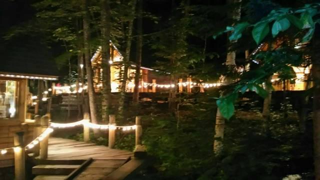 富良野、夜のニングルテラス
