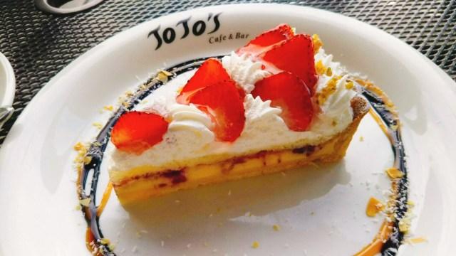 ジョジョズカフェのイチゴのクリームタルト