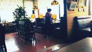 森町のレストラン「ケルン」の店内