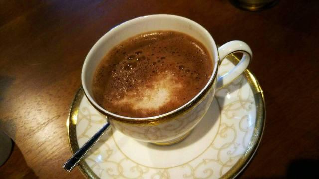 洞爺スマイルガーデンカフェのチョコチーノ