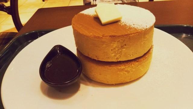 札幌イシヤカフェのプレーンパンケーキ!