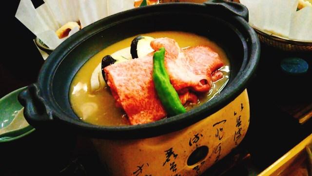 ホテルグランド天空の夕食「味噌すきやき」