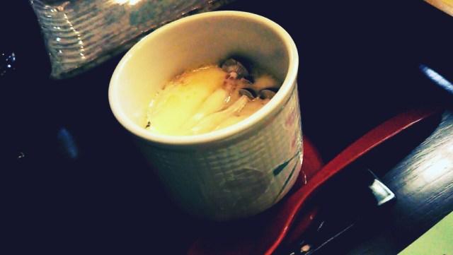 ホテルグランド天空の夕食「茶碗蒸し」