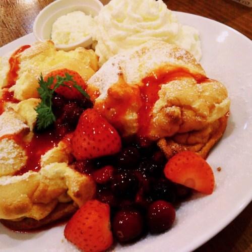 カフェフラミンゴの可愛いパンケーキ!
