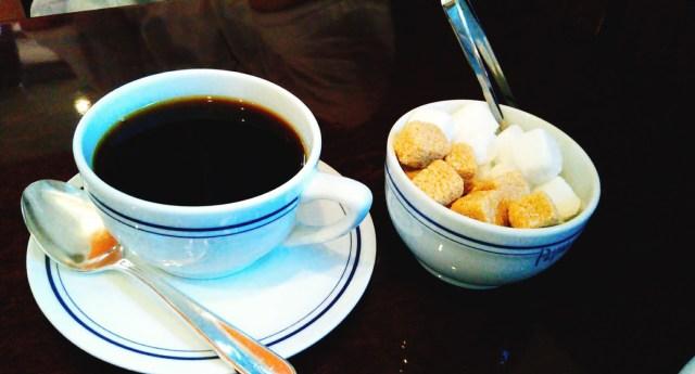 パパスカフェのブラックコーヒー!