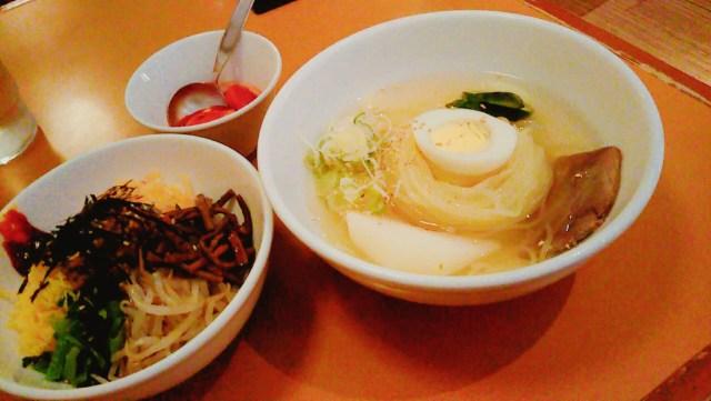 明明家の冷麺とビビンバのセット