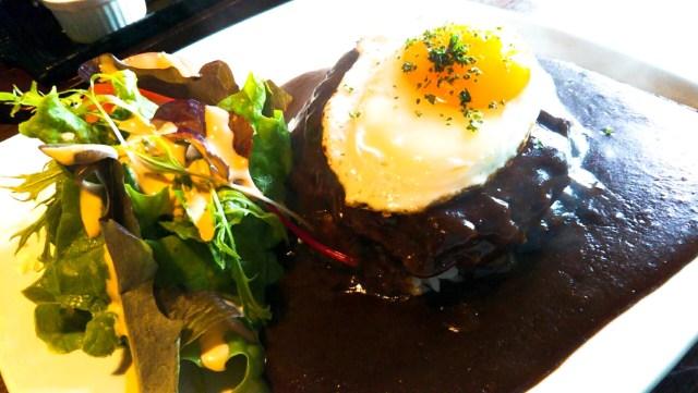 八幡平市のレストラン「らんぷ」のロコモコ