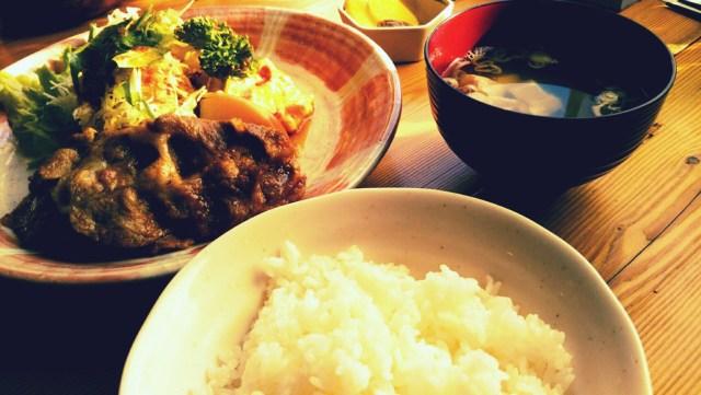 八幡平市「珈琲舎ハイジ」の焼肉定食