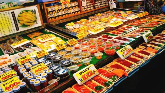 八食センターの魚介類