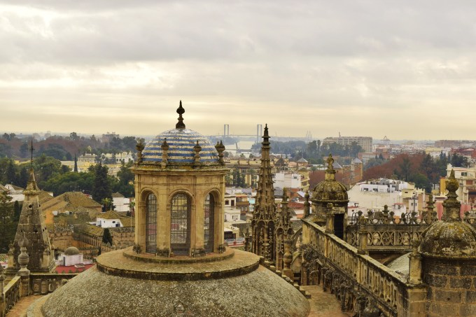 Taken from the Cathedral of Seville in Seville, Spain.