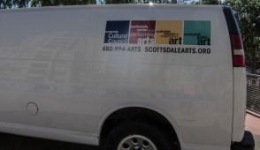 van assisting with dismantling