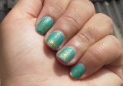 nails of week matte turquoise