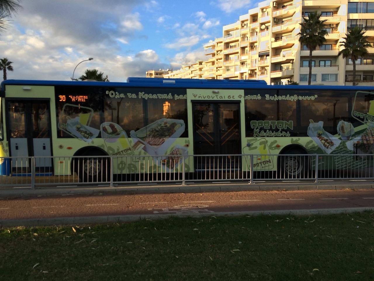 A bus in Limassol