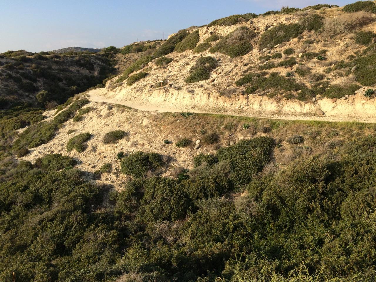 Trail along the coastline near Pafos, Cyprus
