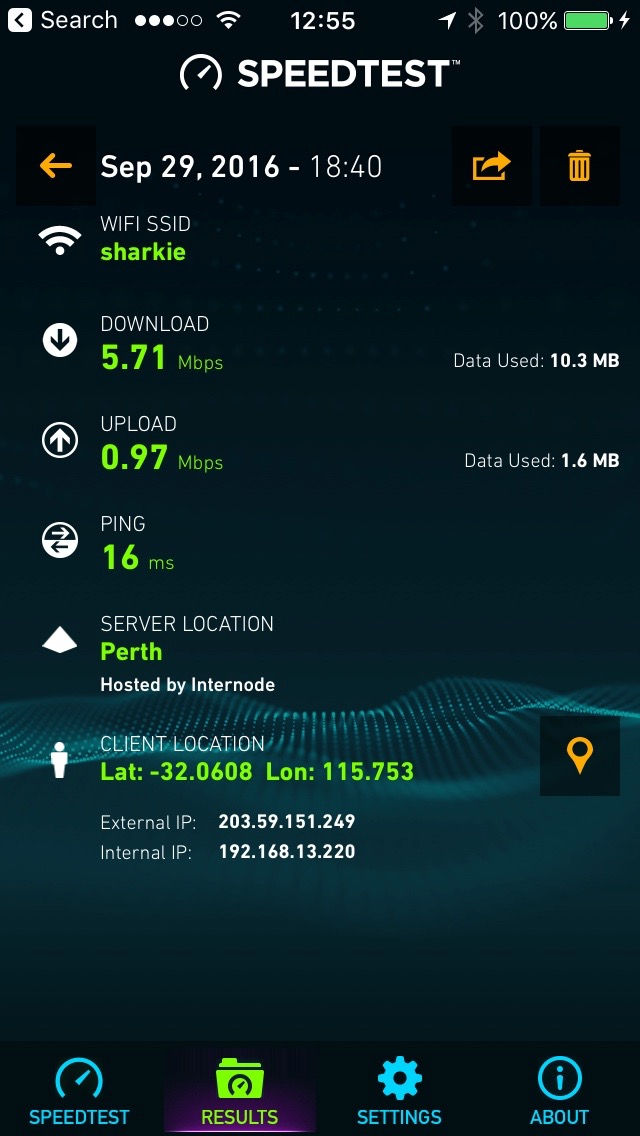 Internet connection in Fremantle