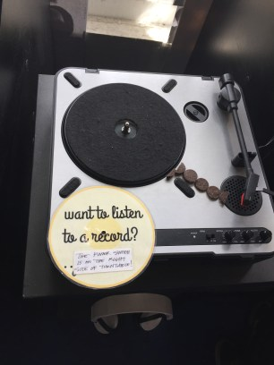Record player in the store.