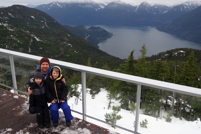 View from Sea to Sky Summit Lodge, Squamish, Howe Sound, Mountain landscape