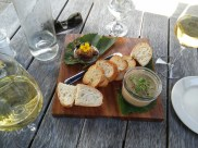 Duck liver parfait, Allan Scott Winery