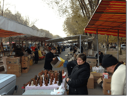 Vernisaj Market in Yerevan Armenia