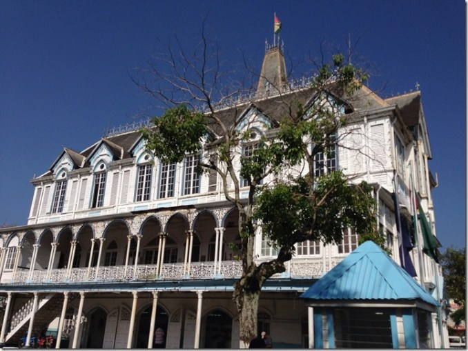 Colonial House in Georgetown Guyana