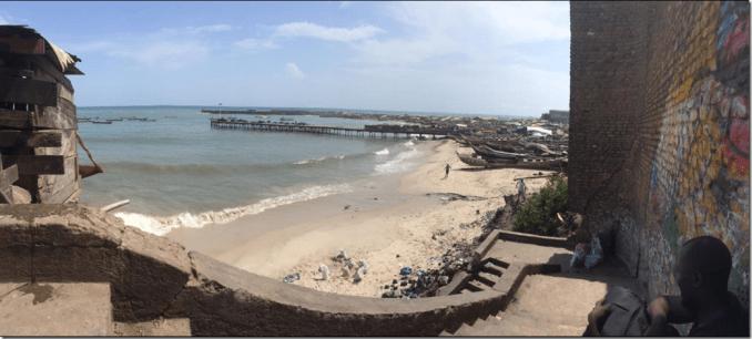 Beautiful beaches in Accra Ghana