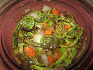 Cold Fiddlehead Salad Recipe