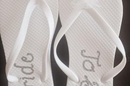 DIY Bride Flip Flops for the Bachelorette Party!