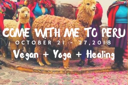 Spots Open: Vegan Yoga Adventure in Peru!