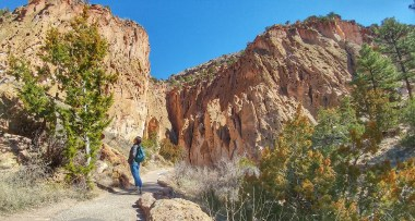 Spectacular views on the Main Loop Trail at Bandelier National Monument
