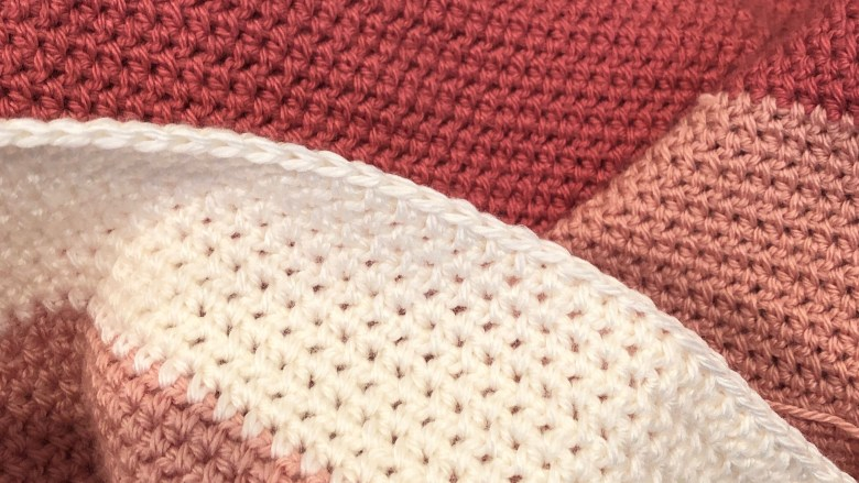 SoCal Sunset Color Block Baby Blanket Crochet Pattern : Traveling