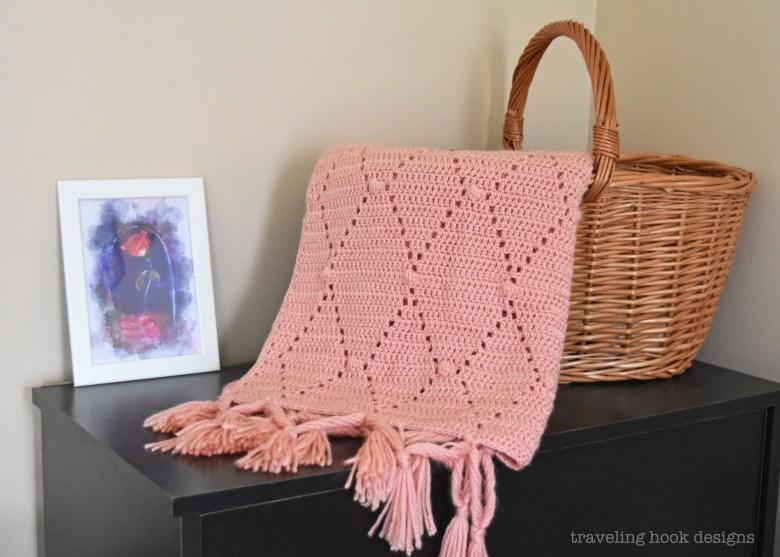 Diamonds Dots Baby Blanket Crochet Pattern Traveling Hook Creative