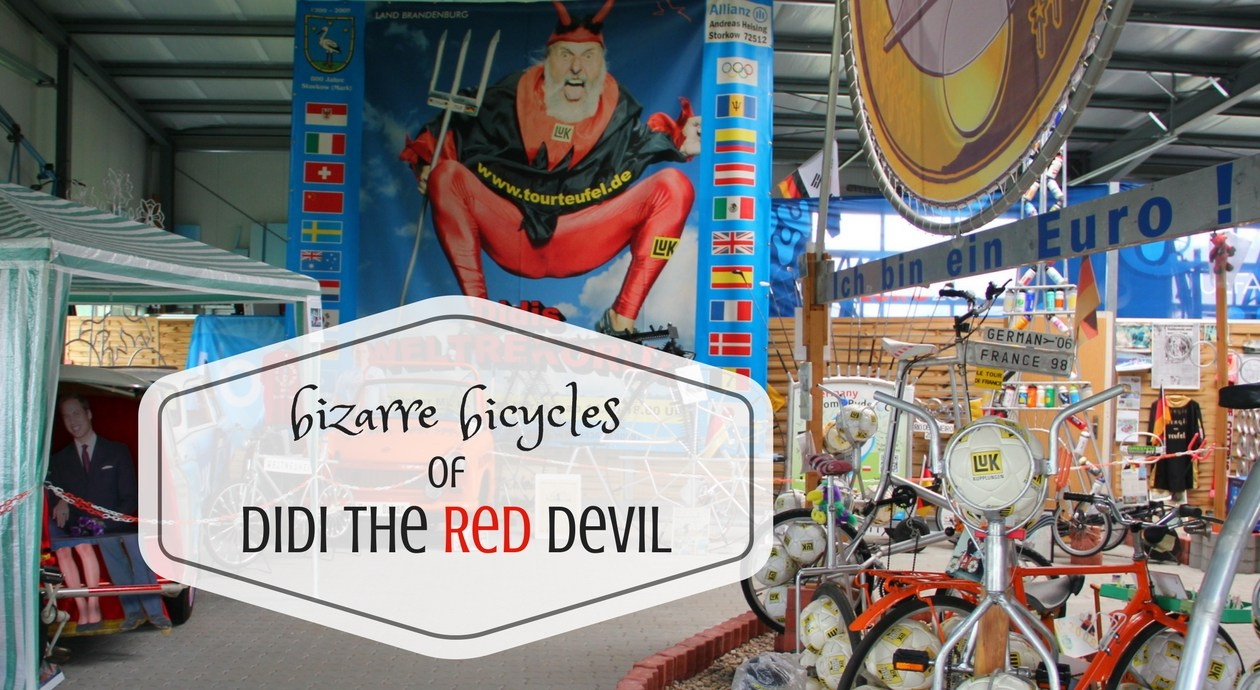 Bizzare bicycles of Didi the Red Devil