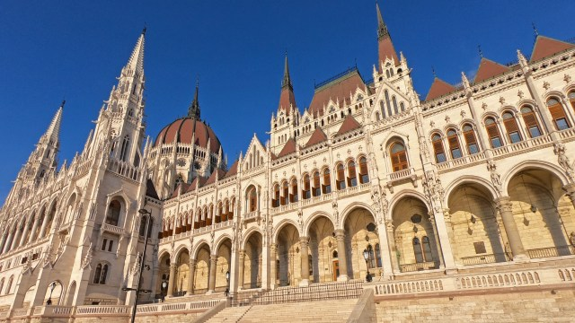 @travelingintandem A photo of the Hungarian Parliament Building