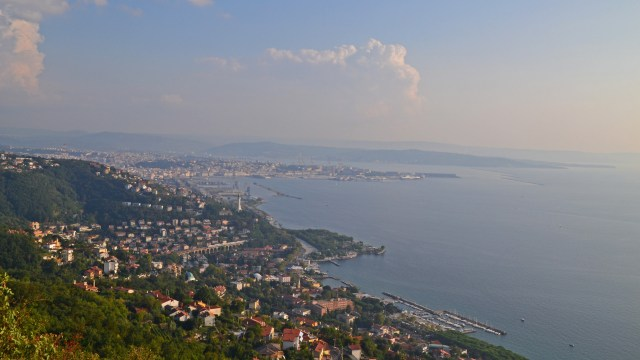 Trieste from the hills. @travelingintandem